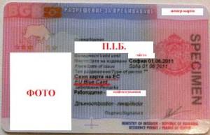 Blue Card, синя карта Болгарії